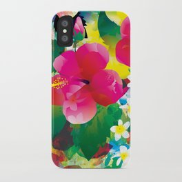 Hawaiian jungle iPhone Case
