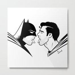 Super Kiss Metal Print