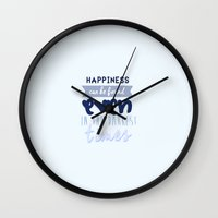 harry potter Wall Clocks featuring Harry Potter Quote by Sümeyra Altunok