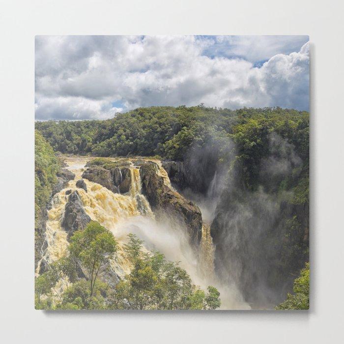 Beautiful wild waterfall Metal Print