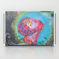 grafitti iPad Cases featuring Grafitti Face by Whitney Woodrick