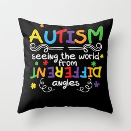 Autism Seeing the World from Different Throw Pillow