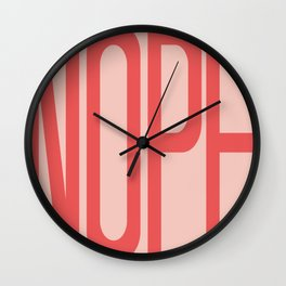NOPE - Large Word Art Typography Wall Clock