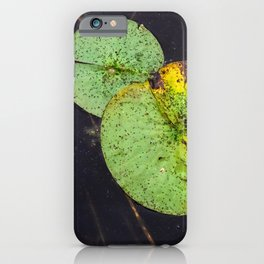 Freckled Water Lillies Photograph iPhone Case