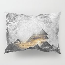 One mountain at a time - Black and white Pillow Sham