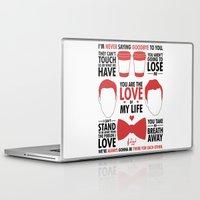kurt vonnegut Laptop & iPad Skins featuring Kurt & Blaine  by Zara Yow
