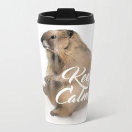 Keep Calm marmot Metal Travel Mug
