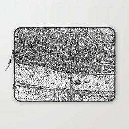 Vintage Map of London England (1593) Laptop Sleeve