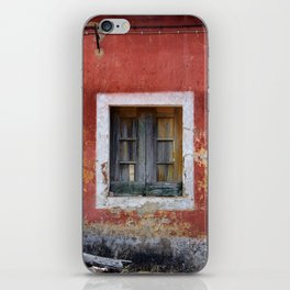 Window and facade of abandoned house in the Algarve Portugal iPhone Skin