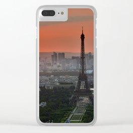Paris le soir Tour Eiffel Clear iPhone Case