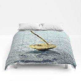 Stone-Sailboat on a Silver Sea Comforters