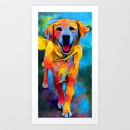 Golden Retriever 3 Art Print