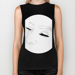 Lashes and nose rings Biker Tank