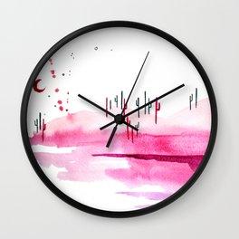 Cotton Candy Desert Wall Clock