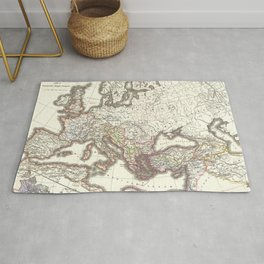 Vintage Map of The Roman Empire (1865) Rug