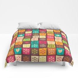 Christmas snowflake pattern 02 Comforters