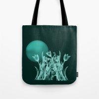 Silky moonlight flower Tote Bag