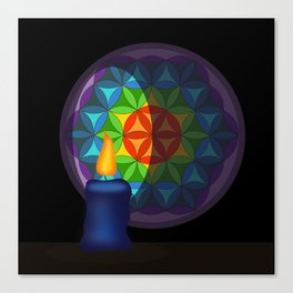 Flower of life in the candlelight Canvas Print