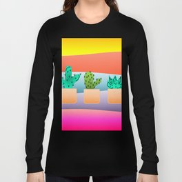 Sunset Cacti Long Sleeve T-shirt