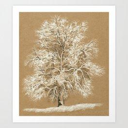Winter tree 02 Art Print
