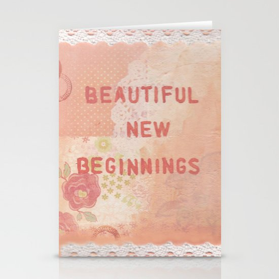 Beautiful new beginnings Stationery Cards
