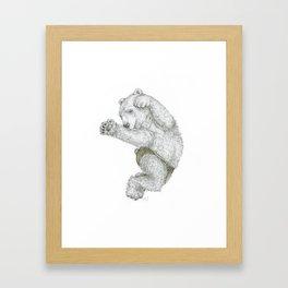 Ours en culotte Framed Art Print