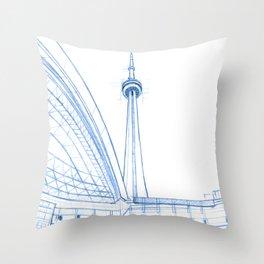 BluePrints | CNTower - Toronto Throw Pillow