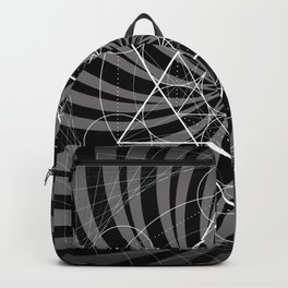 Metatron's Cube Grayscale Spiral of Light Backpack