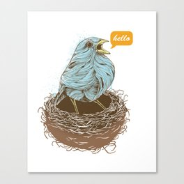 Twisty Bird Canvas Print