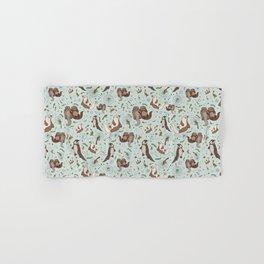 Cute Sea Otters Hand & Bath Towel