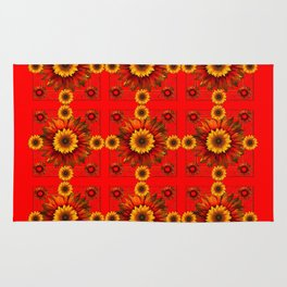 RED & YELLOW SUNFLOWER PATTERN Rug