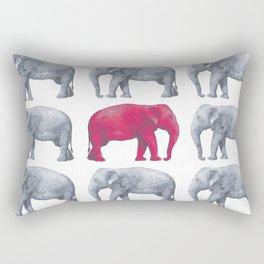 Elephants Red II Rectangular Pillow