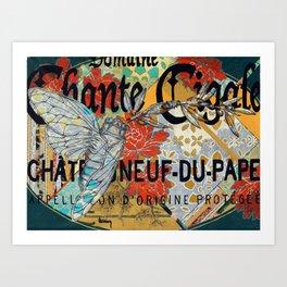Chante Cigale Art Print