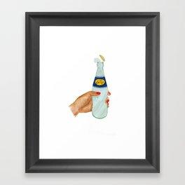 Drink doogh Framed Art Print