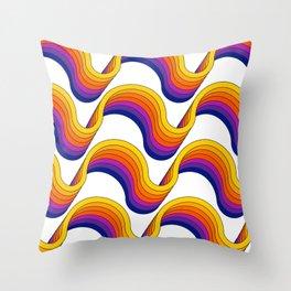 Rainbow Ribbons Throw Pillow