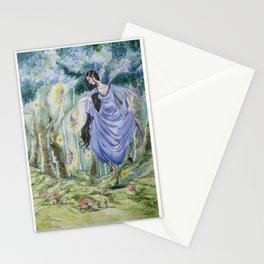 Spirit of the wood original watercolor painting Stationery Cards