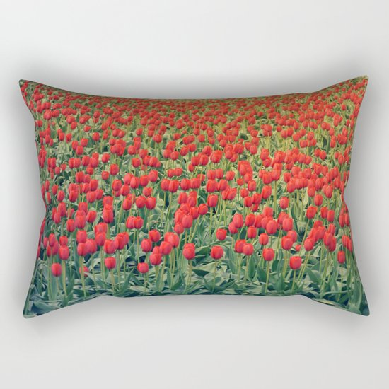 Tulips field #2 Rectangular Pillow