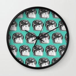 Minifigure Pattern – Teal Wall Clock