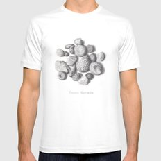 Fossils MEDIUM White Mens Fitted Tee