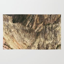 Yellow Rocks Of Yellowstone River Valley Rug