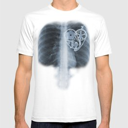 X Ray Bicycle heart components T-shirt