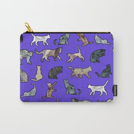 Marble Cats Ultraviolet Carry-All Pouch
