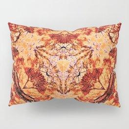 Red Flora Pillow Sham