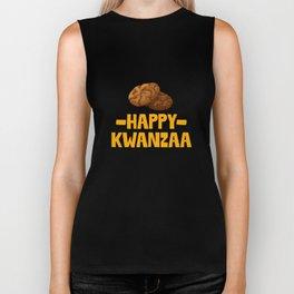 Happy Kwanzaa Biscuits African American Holiday Food Biker Tank