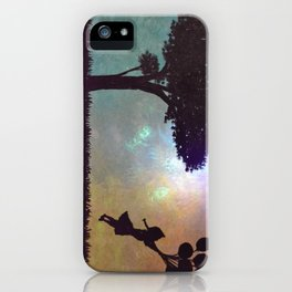 Girl with balloons iPhone Case