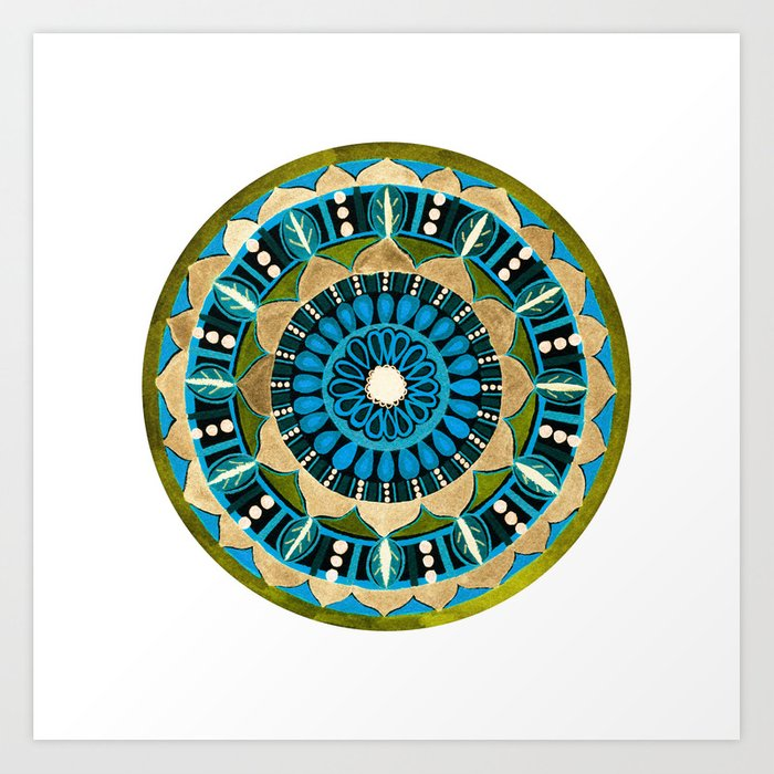 Sprouting Seeds Mandala Art Print