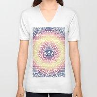 illuminati V-neck T-shirts featuring Native Illuminati by Uprise Art & Design