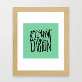 Greenpoint, Brooklyn Framed Art Print