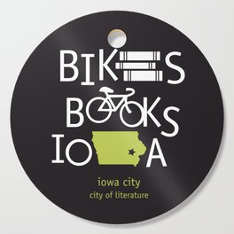 Bikes Books Iowa Cutting Board
