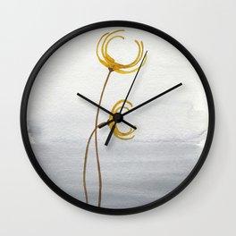 Winter Gold Wall Clock